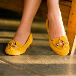 Charlotte Olympia Sagittarius Suede Loafers